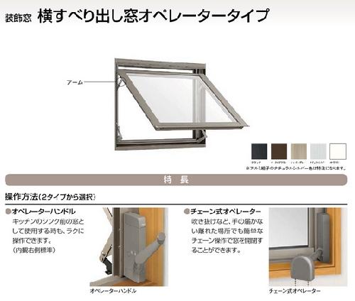 横すべり窓オペレータータイプ