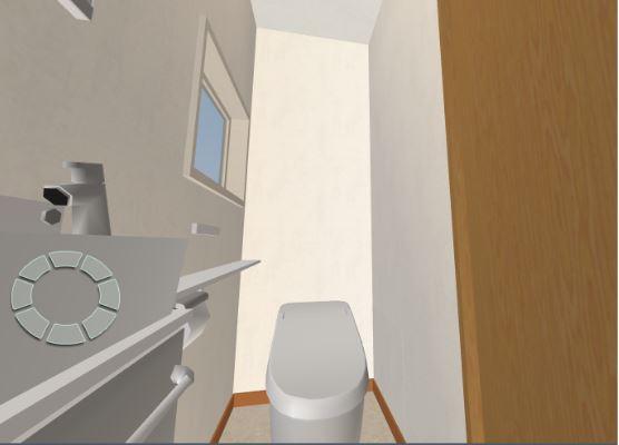 トイレ3D画像